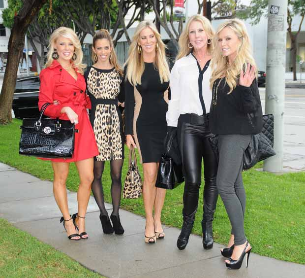 Tamra Barney RHOOC goes for bridal dress fitting in Beverly Hills