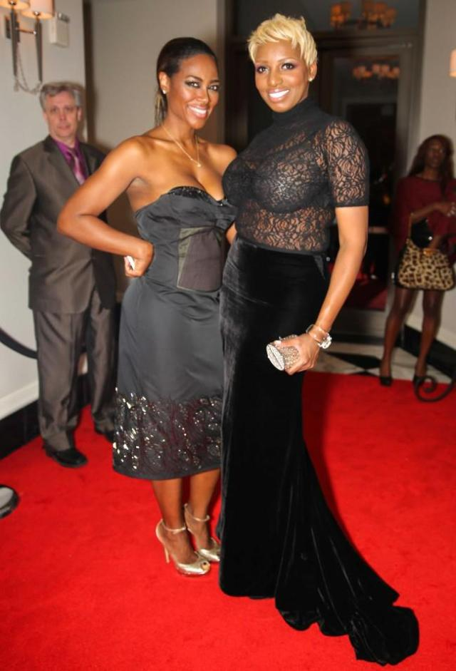 NeNe Leakes and Kenya Moore at NeNe's Holiday Party