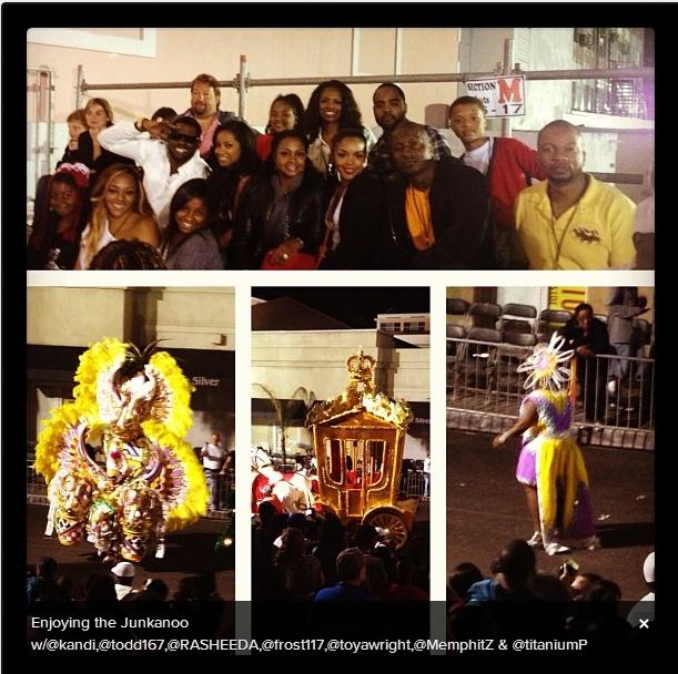Enjoying the Junkanoo w/kandi,@todd167,rasheeda,frost117,@toyawright,@MemphitZ & titaniump