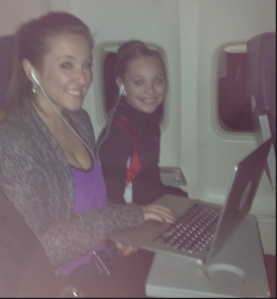 On our way home - again!  Tweet by Abby Lee Miller with Maddie and Gianni (from Abby :Lee Miller Twitter)