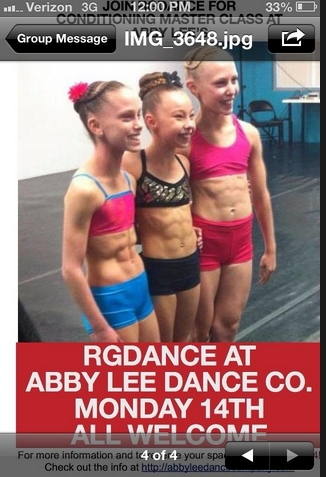 Look at those abs (Abby Lee Miller tweeted this photo to promote RGDance at Abby Lee Dance Company this week).