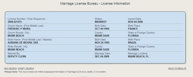 marriage licence