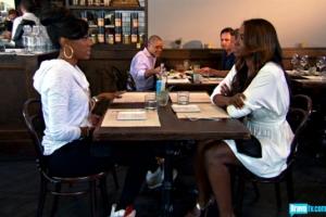 Kenya and Porsha at lunch (photo from bravotv.com)