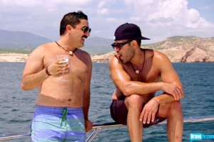 Mike and Reza on the yacht (Bravo photo gallery)