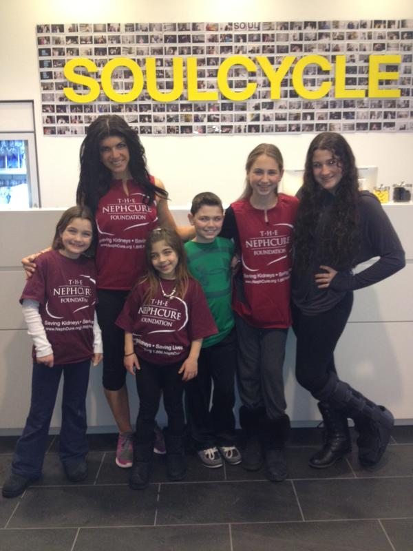 Teresa, Gabriella and Miliania at SoulCycle Nephcure ride (from Teresa Guidice's twitter feed)