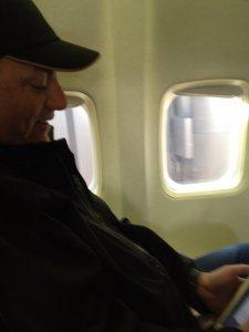 Al Manzo on a plane to Florida