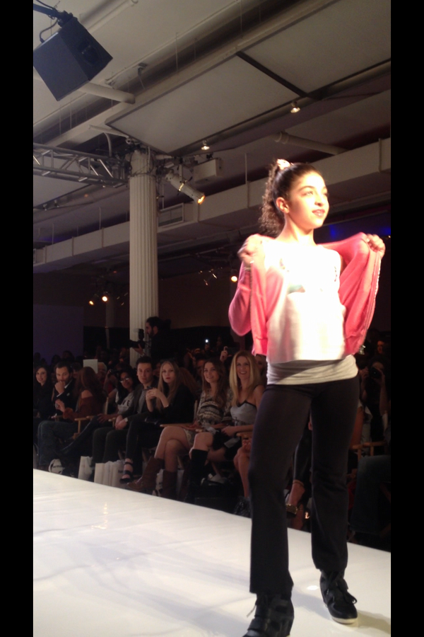 Gia walking the runway - Teresa's twitter