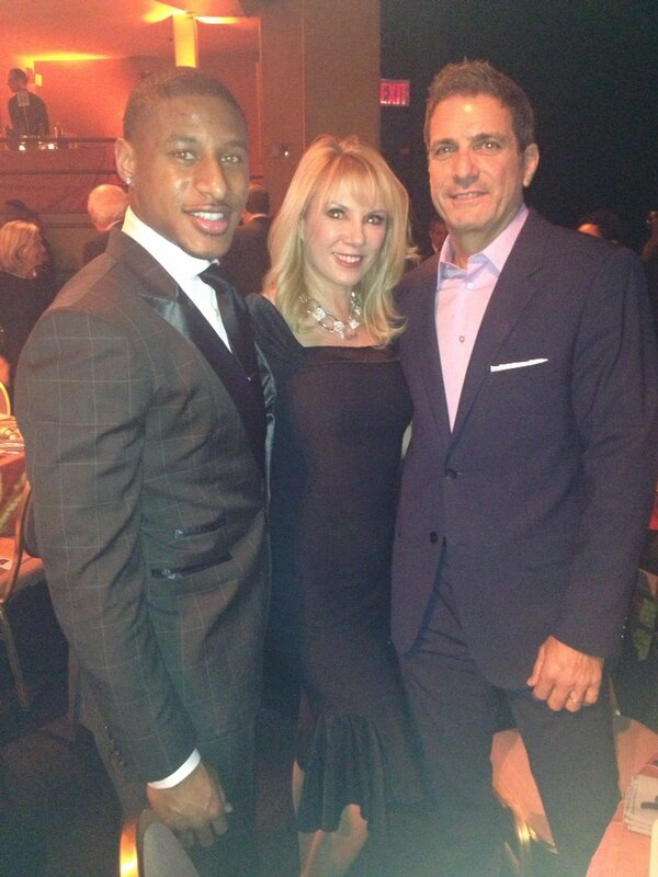 Ramona and Mario Singer with Justin Tyrone at the We Are Family Event Jan 31 (Ramona's twitter feed)