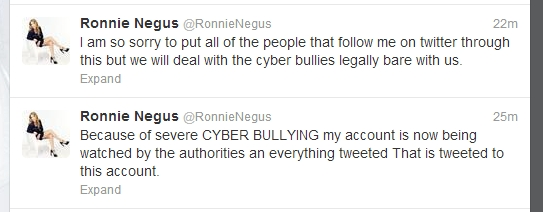 ronnie tweets