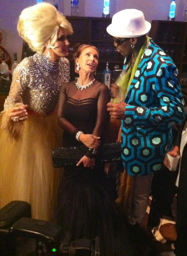 Elaine Lancaster, Lea Black and Dennis Rodman