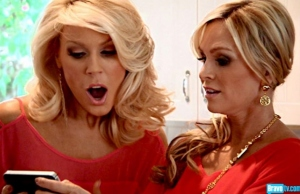 Tamra and Gretchen react to seeing Vicki's new face