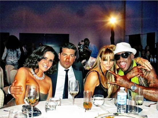 Karent Sierra, Paulo Quevedo, Lisa Pliner and Dennis Rodman (Karent's twitter)