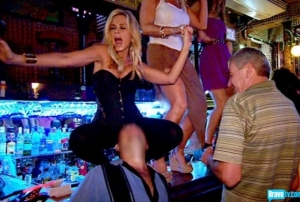 Tamra dancing on bar
