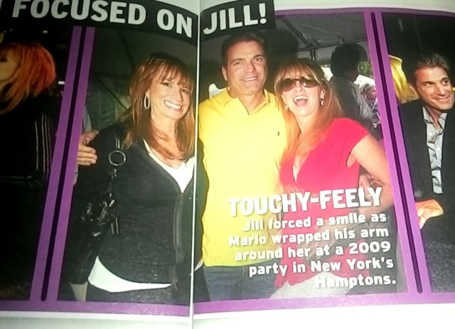 Jill Zarin took exception to Mario placing his arm around her shoulders for this photo.  Photo credit - InTouch magazine.