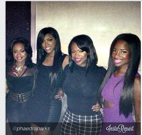 """Birthday fun with my girls porshadstewart @Kandi kandi @shameamorton"" Photo credit Phaedra Parks"