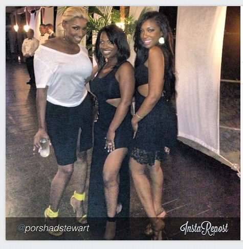 Kandi, Nene, and Porsha - Photo credit Porsha