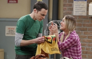 Sheldon spot on shirt