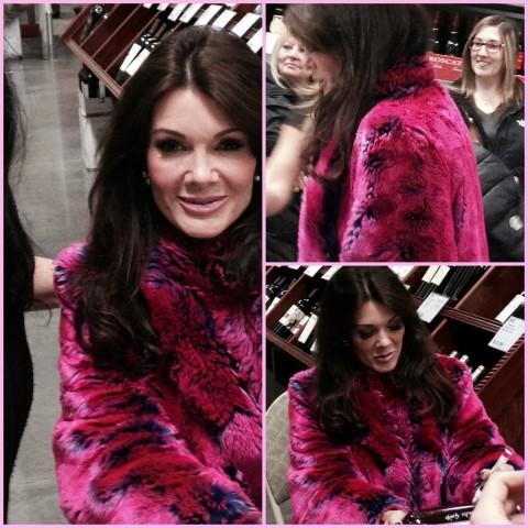 Lisa Vanderpump at BJ's Sangria event November 18, 2014 (photo credit Chismosa @Lynnfam.com)