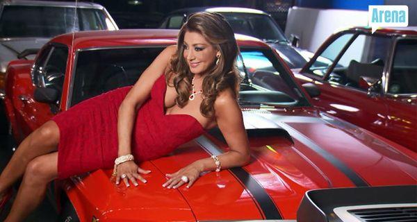 Gina on car