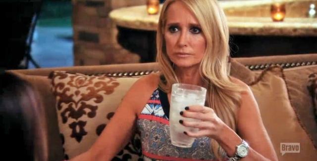 Kim drinking